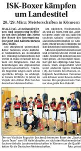 Sonntags Nachrichten 22.03.2015